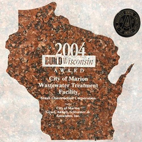 2004 Build Wisconsin City of Marion Wastewater Treatment Facility Award