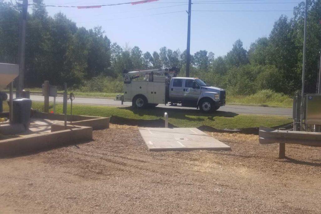 truck at jobsite