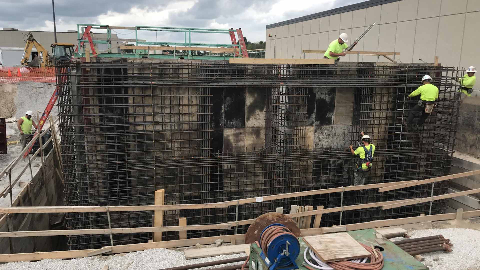 Staabco Employees working at the Brookfield Pollution Control Center Construction Site
