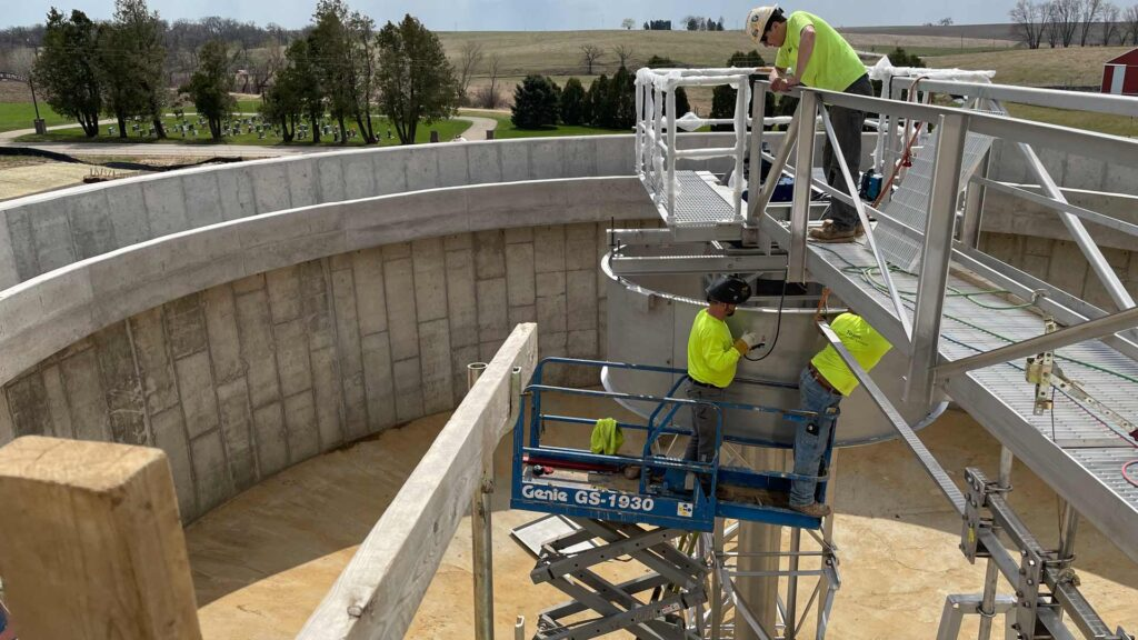 Cheese facility water treatment silo