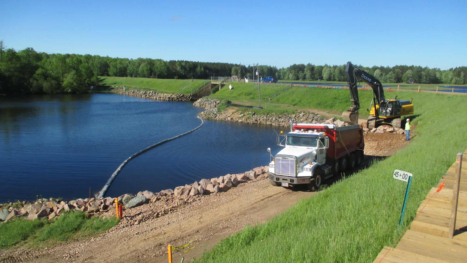 Dam construction site